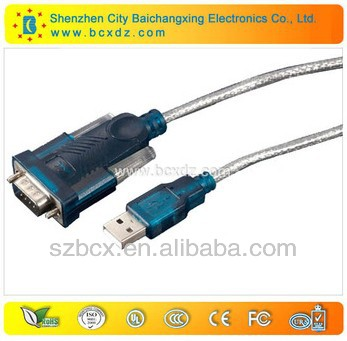 USB 2.0 to RS232 print cable with driver disk
