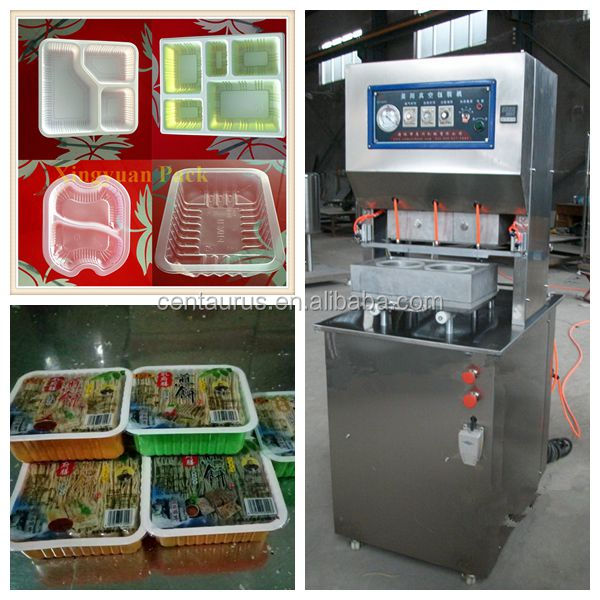 Automatic high speed vacuum cup sealer and tray size can custom