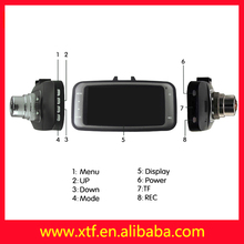 "Hot sale!2.7 ""LCD 120 - degree wide Angle GS8000 spy glasses DVR brands car camera"
