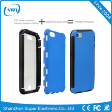 Three proofing shell case TPU soft case with PET screen protector cover case for iPhone 5 5S 5SE