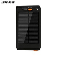 Solar Panel Charger 12000mAh Portable Backup Power Bank with LED indicator lights
