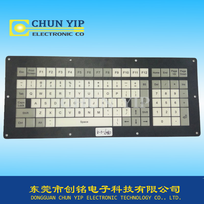 Membrane keyboard panel is applied to a computer keyboard