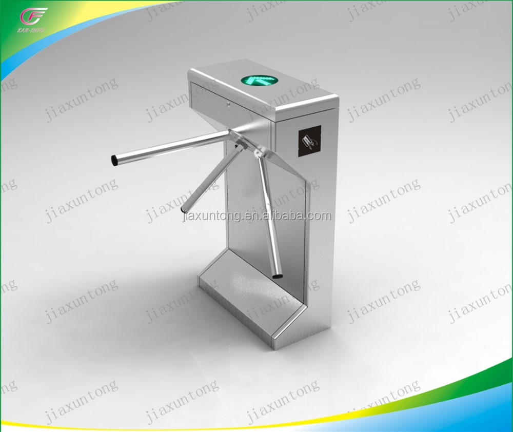 Tripod Turnstile Semi Automatic Bi - Direction Vertical, with RFID Card Reader and Control Panel, Power Supply