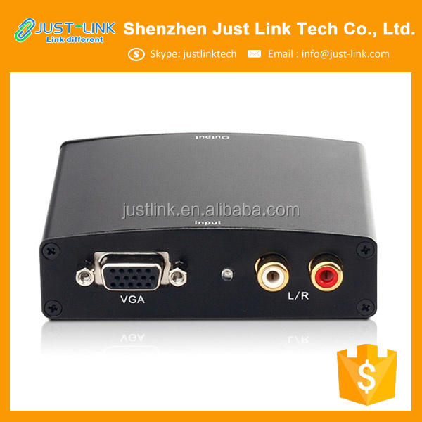 Wholesale factory VGA <strong>R</strong>/L Audio to HDMI Converter HD Video Converter Support Full HD <strong>1080p</strong>