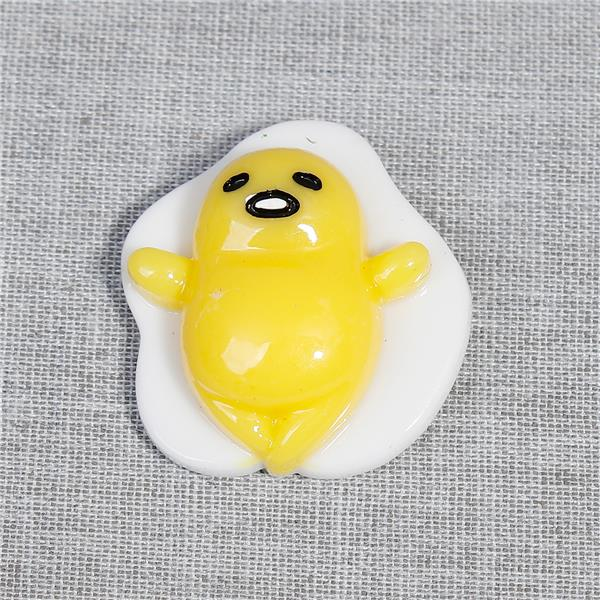 Resin Egg Yellow Color Fridge Magnet