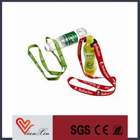 popular silk screen lanyard neck strap with bottle holder