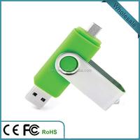 Custom logo OTG usb flash drive double usb made in china