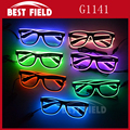 sound activated glow flashing Glow EL glasses
