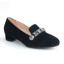 made in china black women flat flexible espadrilles canvas casual shoe