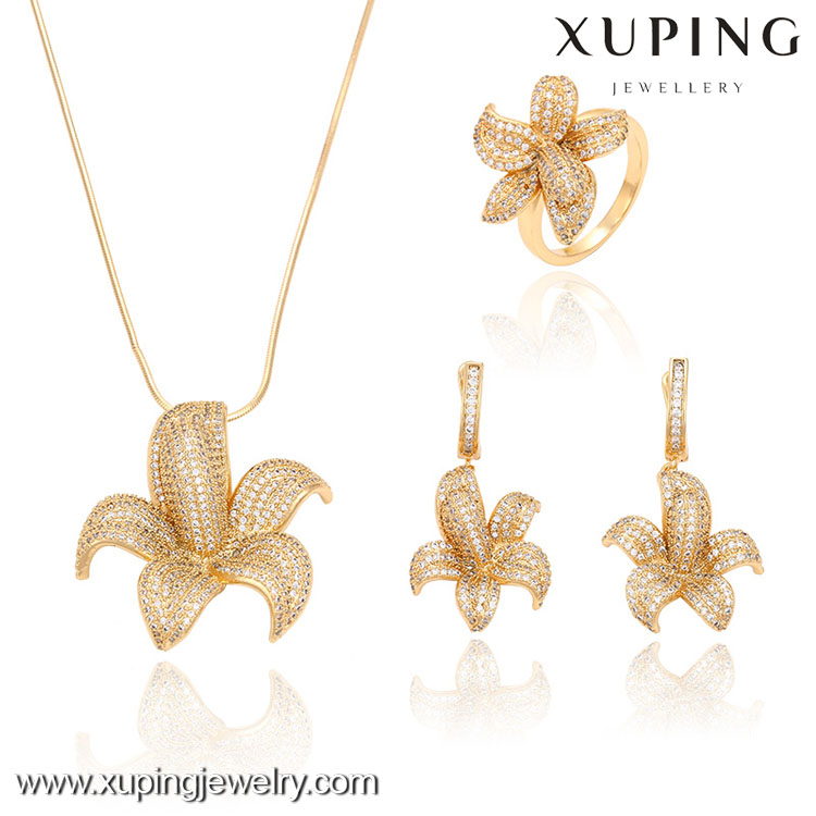 63229-Xuping Crystal Engagement luxury Noble Costume Jewelry Set