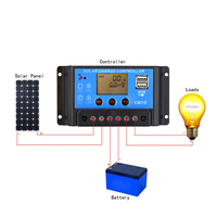 PWM solar charge controller 10a 20a 30a solar regulator for home use and street light