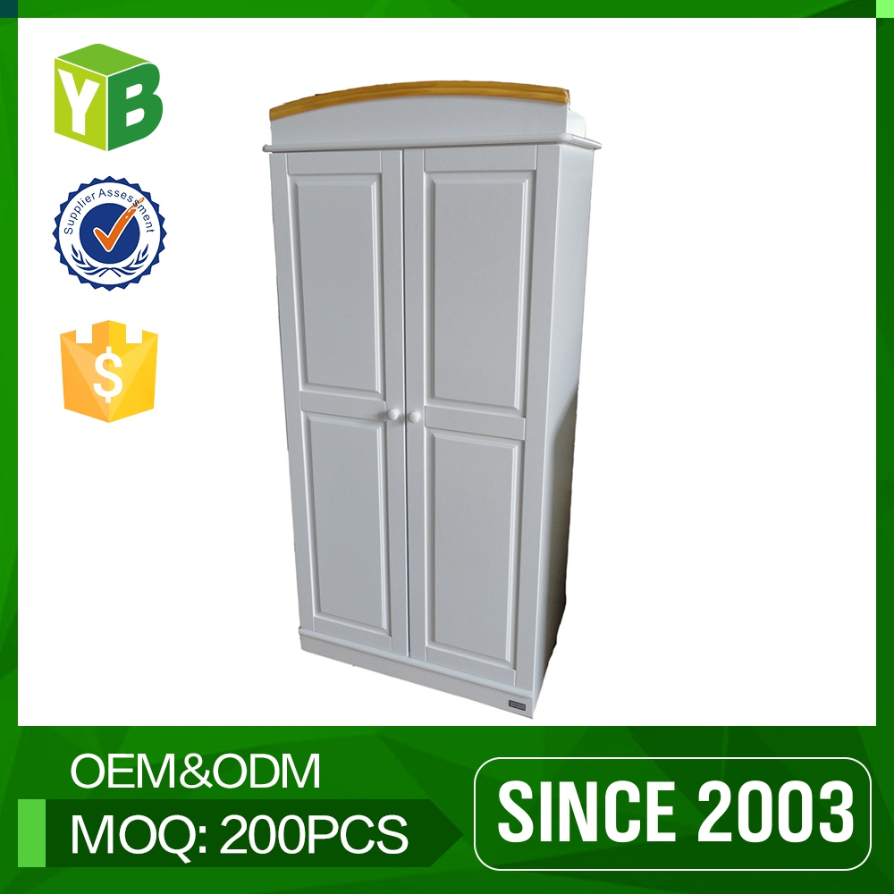 Yibang Environmental Carb Certificate Mdf Latest Design The Door Wardrobe Cabinet With Drawer