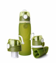 Folding Water Bottle With Activated Carbon Filter Travel Set Bottles