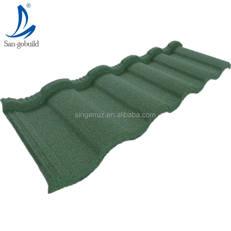 Roman style Lightweight modern building materials Korean quality shingle roofing kerala stone coated metal roof tile for sale