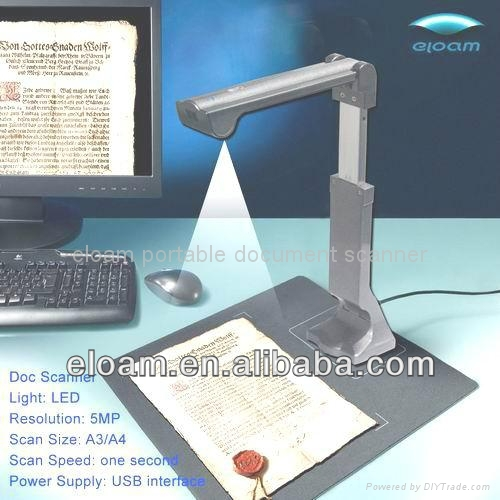 Office and educational software, intelligent application OCR Supported a3 portable document scanner