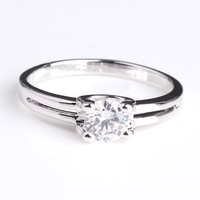 Italina Rigant Four -prong AAA Zircon wedding ring, new design finger ring