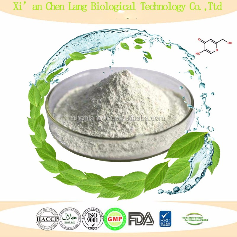 Skin Whitening Cosmetics Raw Material Powder Kojic Acid Powder 99%