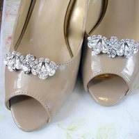 Bridal Wedding Clips Rhinestone Shoe Jewelry