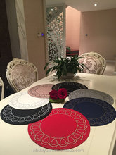 round red felt placemat