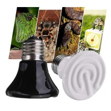 Lowest Price 25W/50W/75W/100W White Black Infrared Ceramic Emitter Heat Light Lamp Bulb For Reptile Pet Brooder 220V