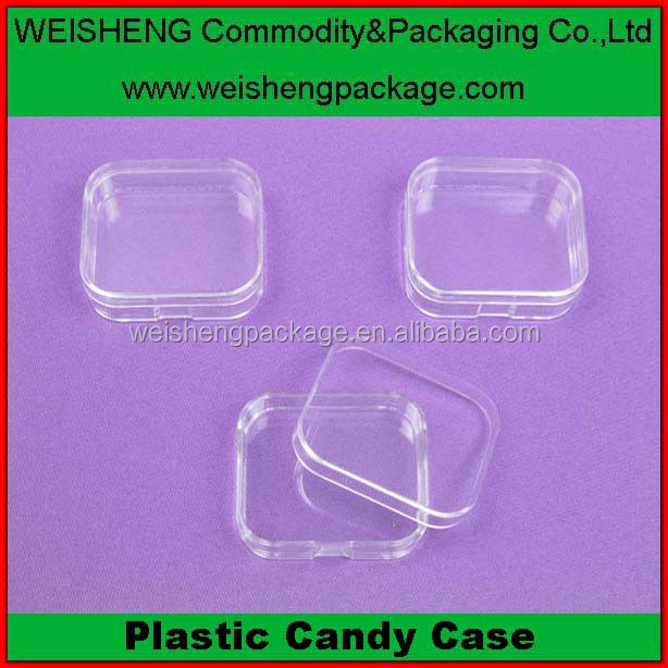 Factory Price Hard Plastic ps Material candy Packaging Boxes with lid