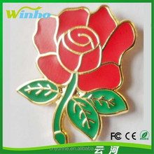 Custom England Rugby Red Rose Pin Badge/flower lapel pin