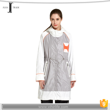 JJ-230 (grey color) girl designer long winter waterproof jacket women