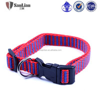 Convenient pet collars & leashes type dog collar with plastic buckle