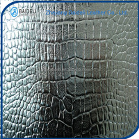 glittering golden silver surface pvc fabric synthetic leather for shoes