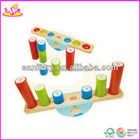 2013 Factory direct sale wooden balance building block toys for children W11F007
