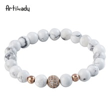 Artilady 2018 Hot Sell Balance New Trendy Energy Spiritural Healthy Men's Lava Stone Bracelets