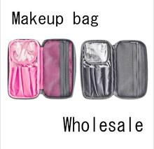 Makeup Bag & Cosmetic Travelling Organizer. Divided Compartments with Zipper Closure - for Teen Girls & Women.