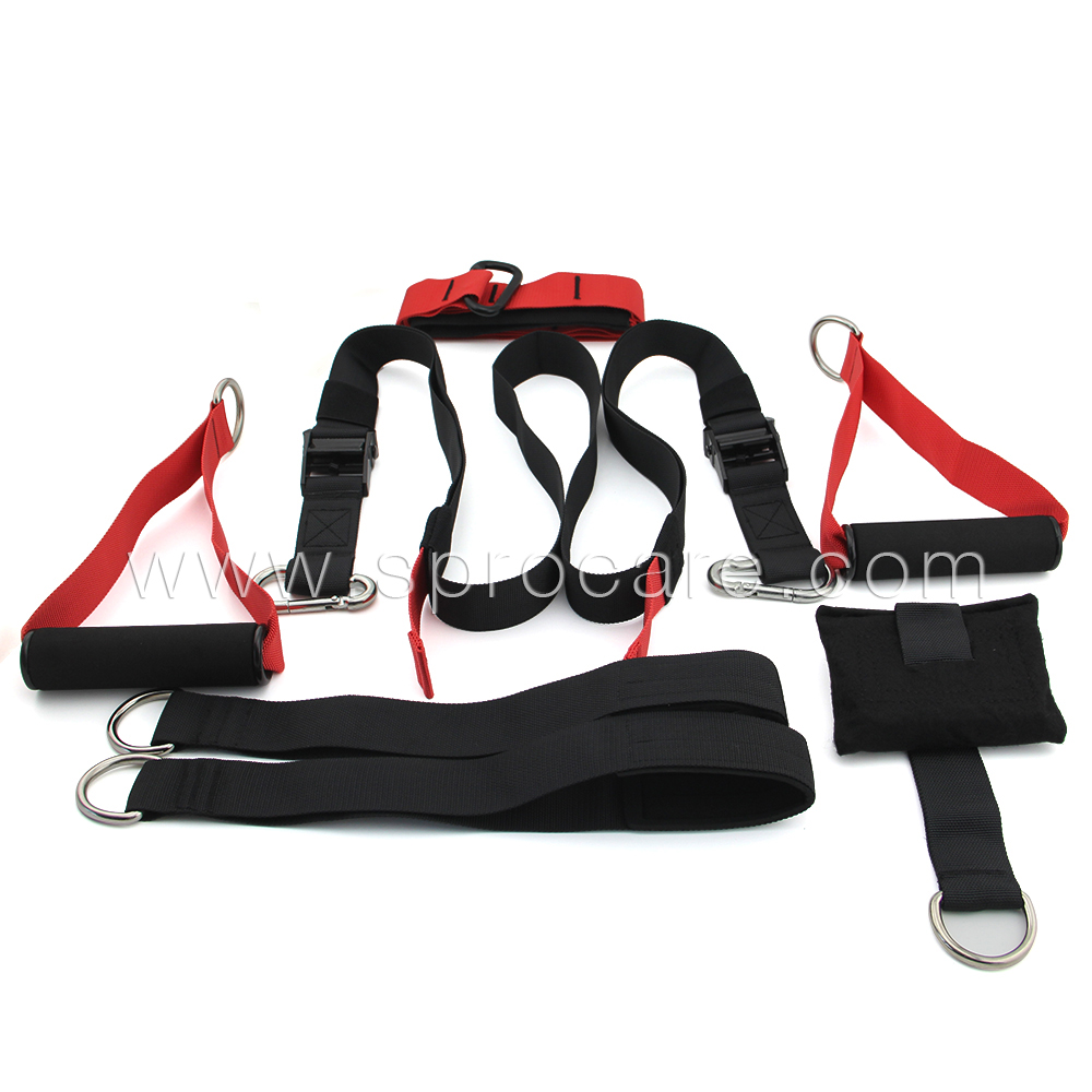SP-ST3 Suspension straps Bands Kit with Foam Grip and Door Anchor,Great For Body Workouts and Stretching Exercise