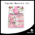 12pcs Flower ,Travel & Grooming Series Stainless Steel Manicure Pedicure Set