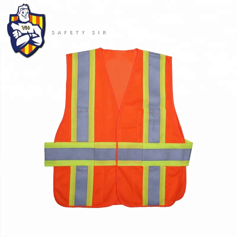 High Visibility <strong>Safety</strong> Reflective ANSI/ISEA Standard Class 2 Mesh Vest For Men Construction Work