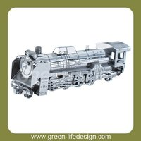 Tourist gift/3D metal steam locomotive model for desk souvenir decoration