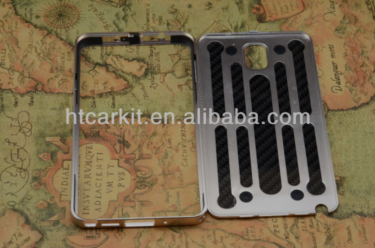 aluminum bumper+carbon fiber case for samsung galaxy note3
