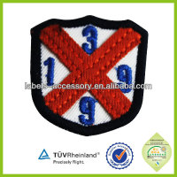 Embroidery floss custom logo embroidered patch with adhesive back