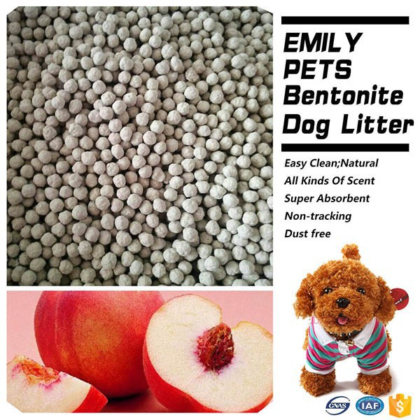 New Product Clumping Dog Litter Bentonite Dog Litter Peach