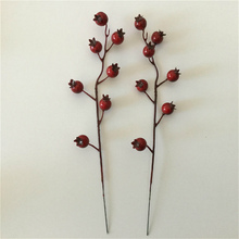 12.2 inch Artificial Red Berry Pick For Christmas Arrangement decoration