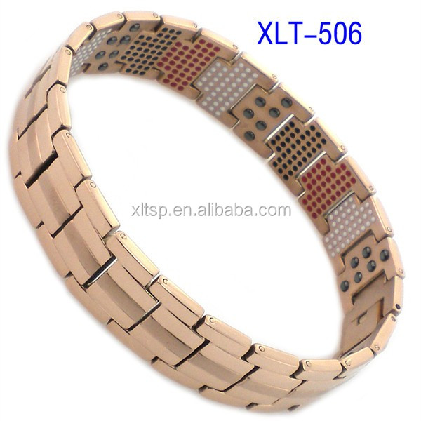 Hot sales mens titanium germanium bracelet health care magnetic bracelet