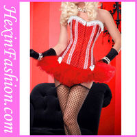 Wholesale New Fashion Cheap Sweet Small Dot Red Gothic With White Lace Corset With Tutu Skirt Set