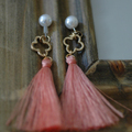 latest design of pearl earrings, pearl tassel earrings