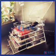 New arrival acrylic clear cube makeup organizer drawer display acrylic cosmetic organizers