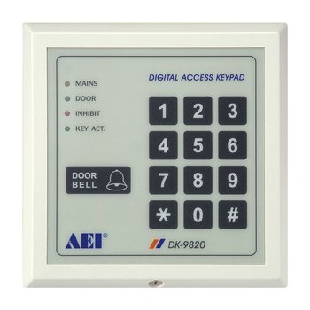 security products dk 9820 slim digital access keypad buy digital access keypad product on. Black Bedroom Furniture Sets. Home Design Ideas