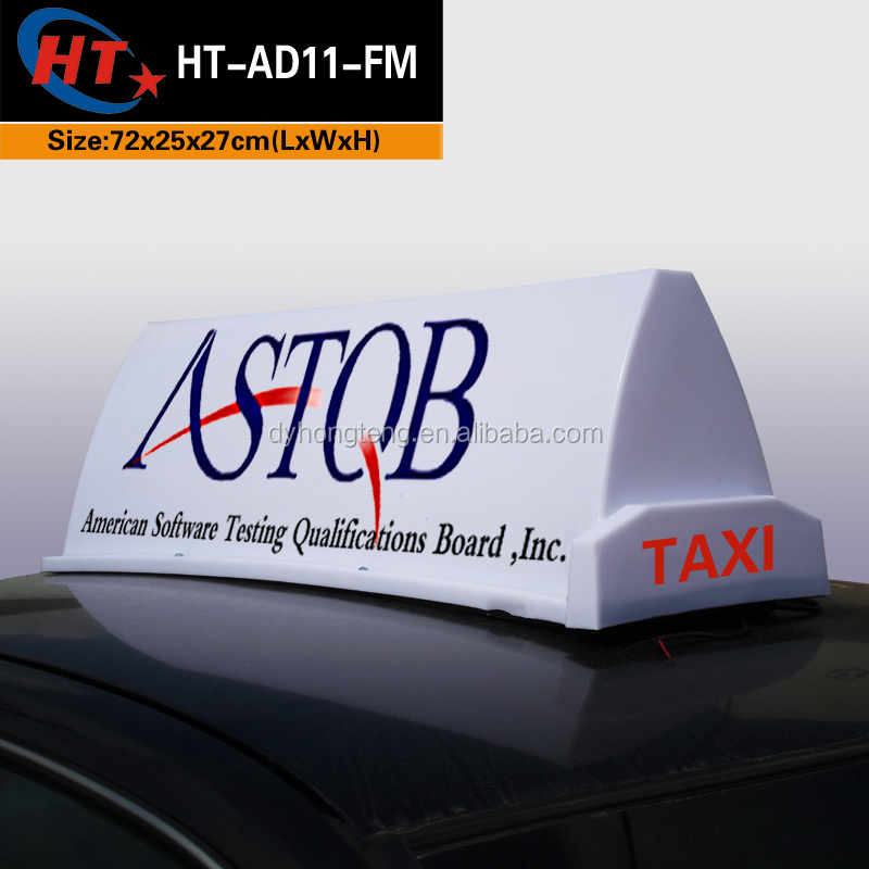 City light box advertising taxi car display led sign