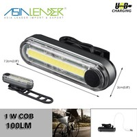 for Night Riding IPX8 Bike Safety Light 1W COB 100LM USB Rechargeable Mini LED Bike Light