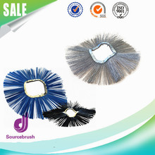 custom wafer mixed polypropylene sweeper clean steel wire roller brush