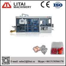 Servo motor tray three station thermforming machine