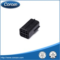 6 pin plastic black auto connector 174264-2 for automotive application,housing application